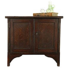 Primitive Antique Country Pine 8 Drawer Jewelry or Collector Cabinet #31682