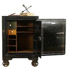 Victorian Antique Iron Safe, Original Paint, Diebold of Ohio #31738