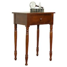 Sheraton Antique 1825 Cherry Nightstand, End or Lamp Table #31778