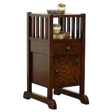 Arts & Crafts Mission Oak Craftsman Chairside Table or Smoking Stand #31786