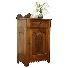 Victorian Antique Walnut Jelly Cupboard or Bath or Linen Cabinet #31809