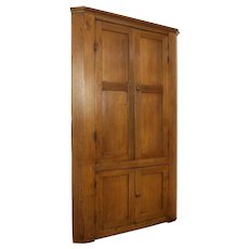Primitive Antique 1850 Missouri Walnut Cupboard Country Corner Cabinet #31815