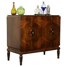 French Art Deco Antique Rosewood Server, Huntboard, Bar Cabinet  #31818