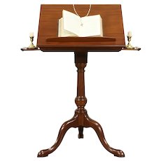 Bible or Dictionary Stand, Vintage Mahogany, Adjustable Top  #31834