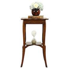 Victorian Antique Carved Oak Lamp Table, Plant Stand, Sculpture Pedestal #31853