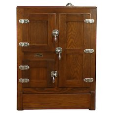 Oak & Ash Antique Kitchen Pantry Icebox Cabinet, Lorraine, La Crosse WI #31954