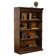 Oak Quarter Sawn Antique 4 Stack Lawyer Bookcase, Bath Cabinet #31959