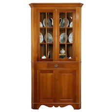 Traditional Cherry Vintage Corner Cupboard or Cabinet, Cassady #31972