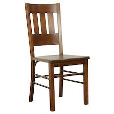 Mission Oak Arts & Crafts Antique Craftsman Desk or Dining Chair  #31978