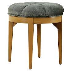 Midcentury Modern 1950's Vintage Swivel Stool, All Original Upholstery  #31981