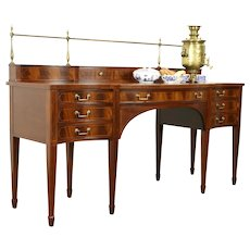 Georgian Vintage Mahogany Sideboard, Server or Buffet, Signed Baker #32034