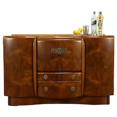 Midcentury Modern Vintage English Bar Liquor Cabinet, Beautility #32108
