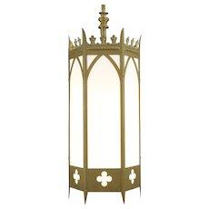 Gothic Antique Hexagonal 1920 Light Fixture, Church Salvage #32222