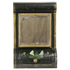 Victorian Painted Tin Antique Store Tea or Coffee Bin, Caddy or Hopper #32247