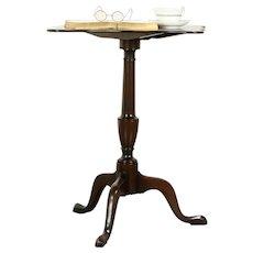 Mahogany Vintage Tilt Top Tea or Lamp Table, Williamsburg Restoration #32263