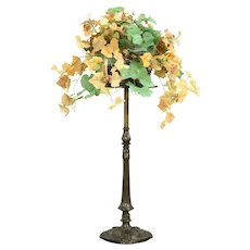 Bronze Antique Chairside Table, Plant, Sculpture Stand, Bradley & Hubbard #32307
