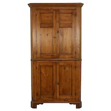 Country Pine Antique Corner Cabinet or Cupboard, Pennsylvania #32308
