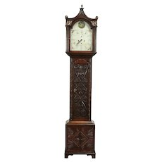 Georgian Scottish 1810 Antique Oak Grandfather Tall Case Quartz Clock #32380
