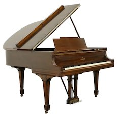 "Steinway Model M 1923 Mahogany 5' 7"" Grand Piano & Bench #32428"
