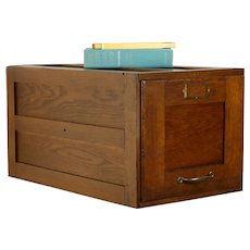 Oak Antique Craftsman One Drawer Desk Top File Cabinet #32429