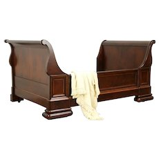 Empire Antique 1840 Austrian Mahogany Sleigh Bed or Day Bed #32444
