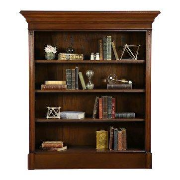 Oak Antique Bookcase or Pantry Cupboard, Adjustable Shelves #33231