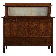 Arts & Crafts Mission Oak Antique Craftsman Sideboard #33251