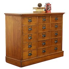 Country Pine Antique 15 Drawer Apothecary, Pantry or File Cabinet #33411