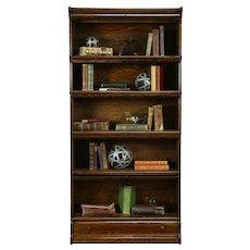 Lawyer Original Antique 5 Stack Quarter Sawn Oak Bookcase, Macey #33420