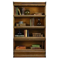 Oak 4 Stack Antique Barrister or Lawyer Library Bookcase #33426