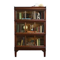 Oak Antique 3 Stack Lawyer, Office or Library Bookcase, Macey #33812