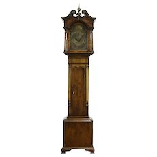 George III Style English Vintage Mahogany Grandmother Clock Brandon #33833