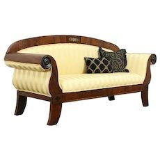 Empire Classical Antique 1830 Scandinavian Sofa, New Upholstery #33845
