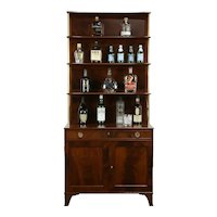 Regency Design Flame Mahogany Bookcase or Curio Etagere #34055