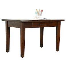 Arts & Crafts Mission Oak Antique Craftsman Office Desk or Library Table #34085