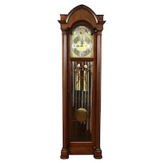Gothic Antique Mahogany 7 Tube Grandfather Tall Case Clock, Colonial #34380