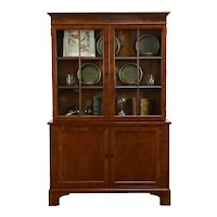 Traditional Cherry Vintage Bookcase or China Cabinet #34654