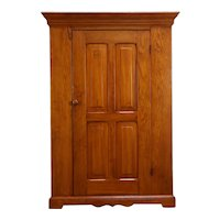 Victorian Country Pine Antique Farmhouse Armoire, Wardrobe or Closet #35246