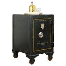 Victorian Antique Iron Office Safe, Combination Lock, Victor Cincinnati #35291