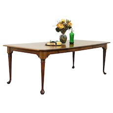 Traditional Vintage Farmhouse Dining Table, Extends 8,' Nichols & Stone #35675
