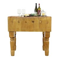 Butcher Kitchen Pantry Chopping Block, Farmhouse Wine Table or Island #35825