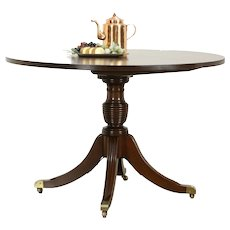 Round Traditional Mahogany Dining, Breakfast or Conference Table, Gulden #35888