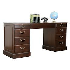 Traditional Vintage Office Credenza, Computer Desk, Lateral File, R-way #36009