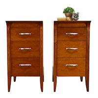 Pair of Midcentury Modern 1960 Vintage Nightstands or End Tables, Drexel #36224