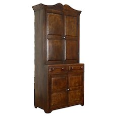 Farmhouse Country Pine Antique Grain Painted Kitchen Pantry Cupboard #36517