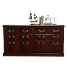 Traditional Mahogany Vintage Lateral 4 Drawer Locking Office File Kimball #36522
