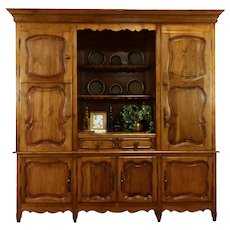 French Country Pine Antique Farmhouse Cabinet Kitchen Pantry Cupboard #37203