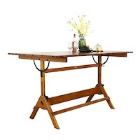 Drafting or Artist Vintage Desk, Kitchen Island, Wine Table, Hamilton #37260