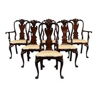 Set of 6 Georgian Design Mahogany Dining Chairs, Williamsburg by Stickley #37297