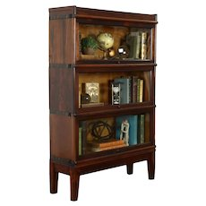 Arts & Crafts Mission Antique 3 Stack Lawyer, Office Bookcase, Macey #37336